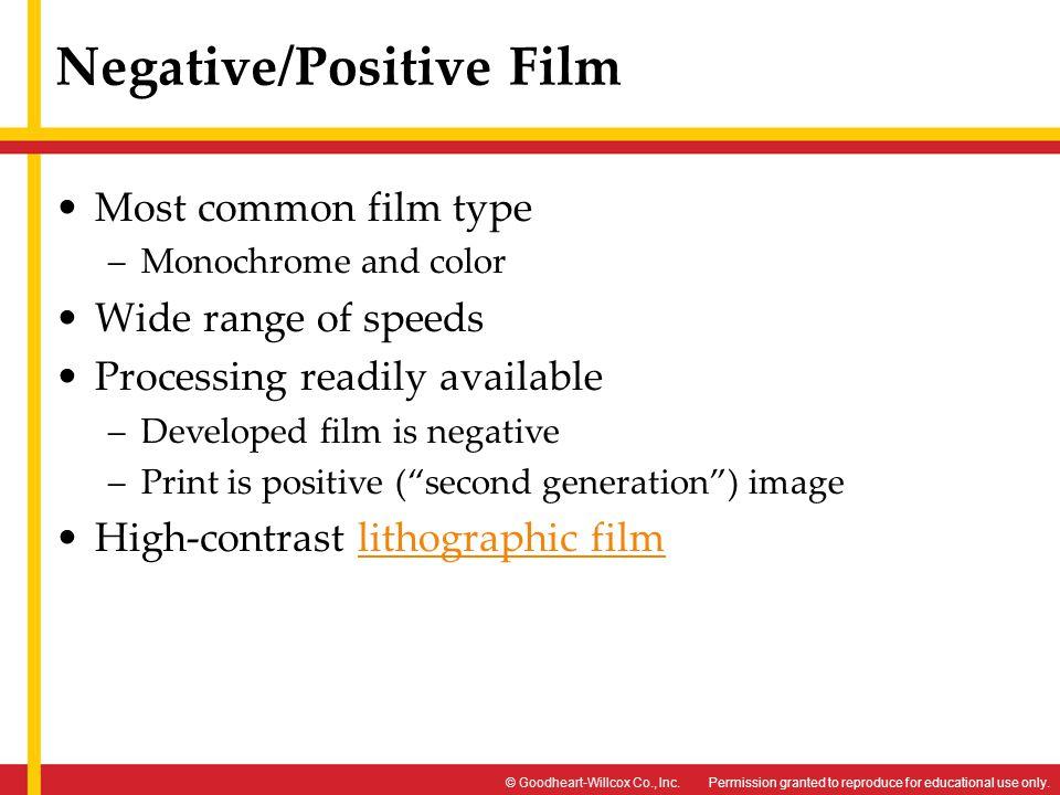 Negative/Positive Film