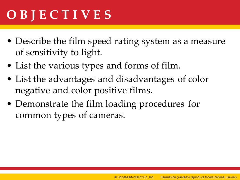 Describe the film speed rating system as a measure of sensitivity to light.