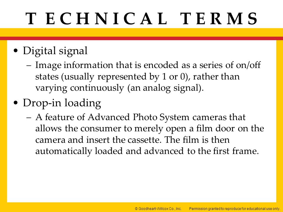 Digital signal Drop-in loading