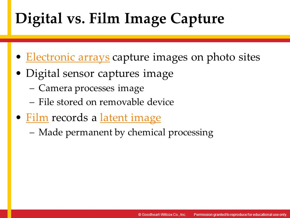 Digital vs. Film Image Capture