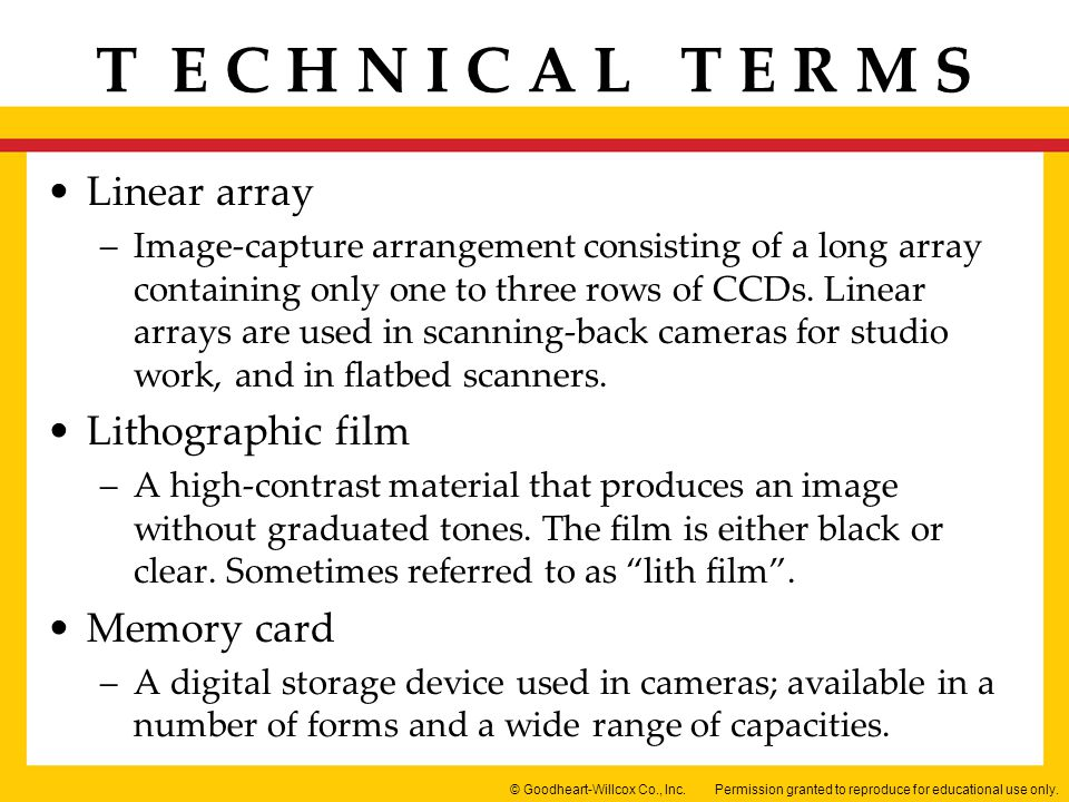 Linear array Lithographic film Memory card