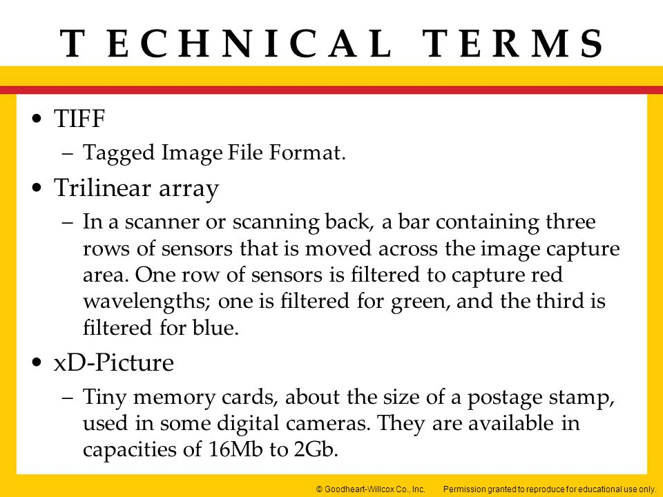 TIFF Trilinear array xD-Picture Tagged Image File Format.