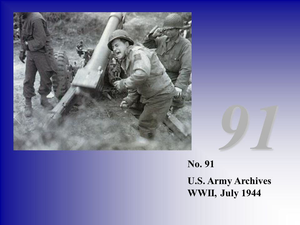 91 No. 91 U.S. Army Archives WWII, July 1944