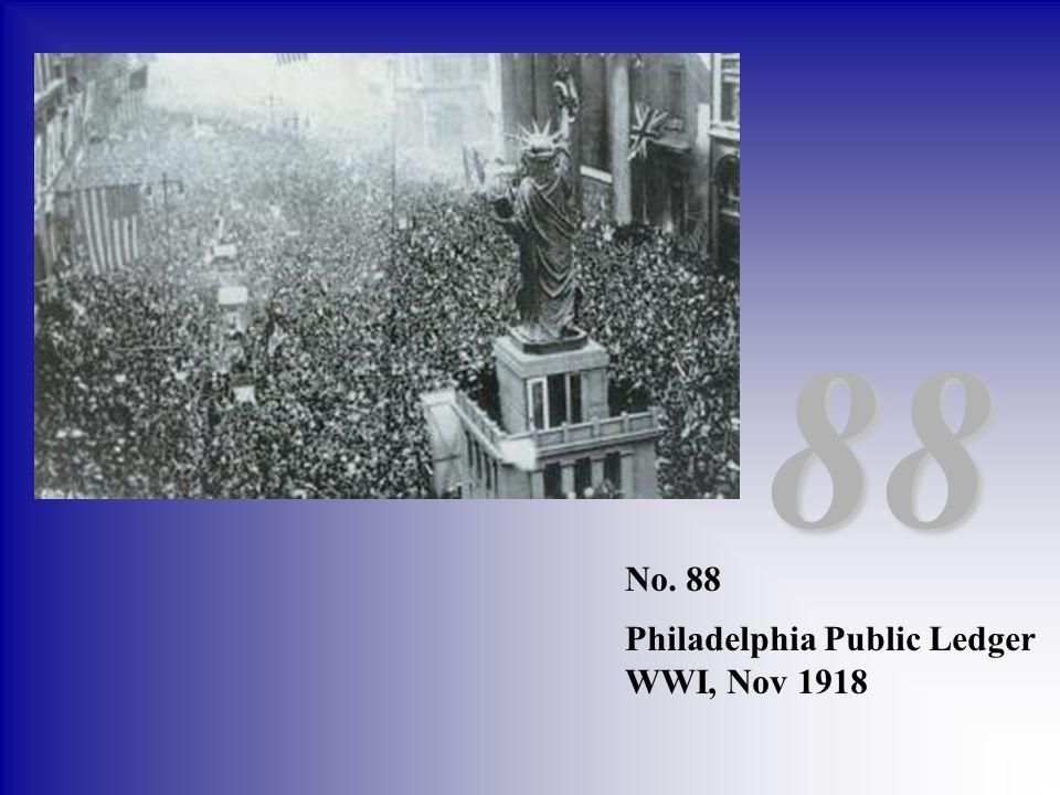 88 No. 88 Philadelphia Public Ledger WWI, Nov 1918