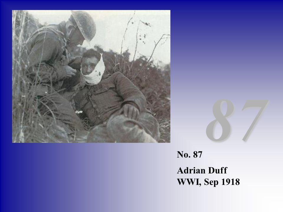 87 No. 87 Adrian Duff WWI, Sep 1918