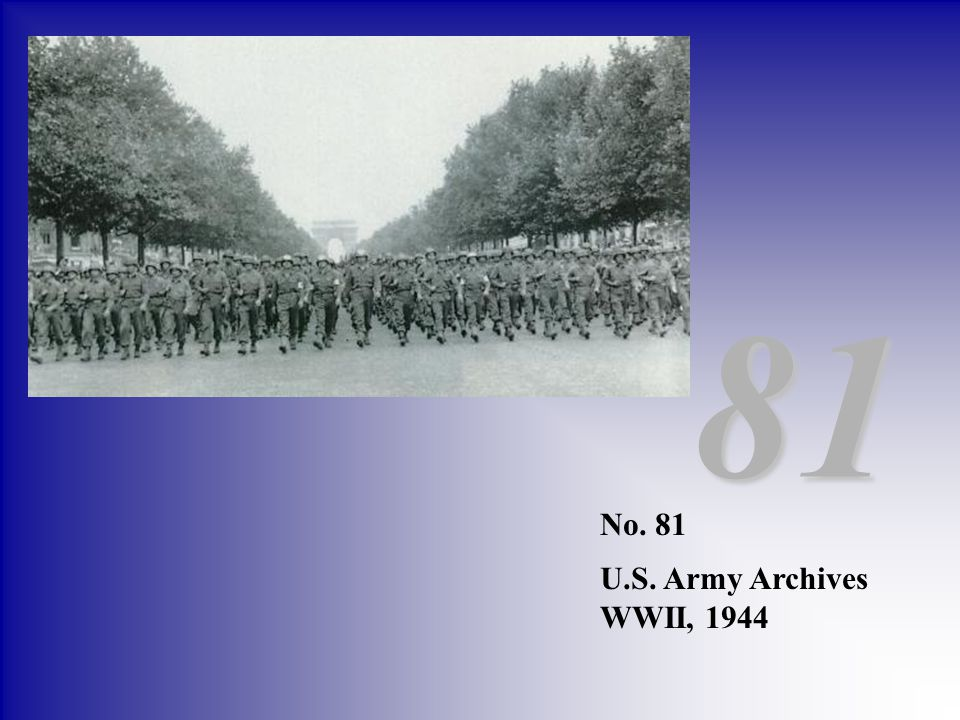 81 No. 81 U.S. Army Archives WWII, 1944