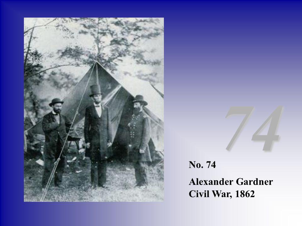 74 No. 74 Alexander Gardner Civil War, 1862