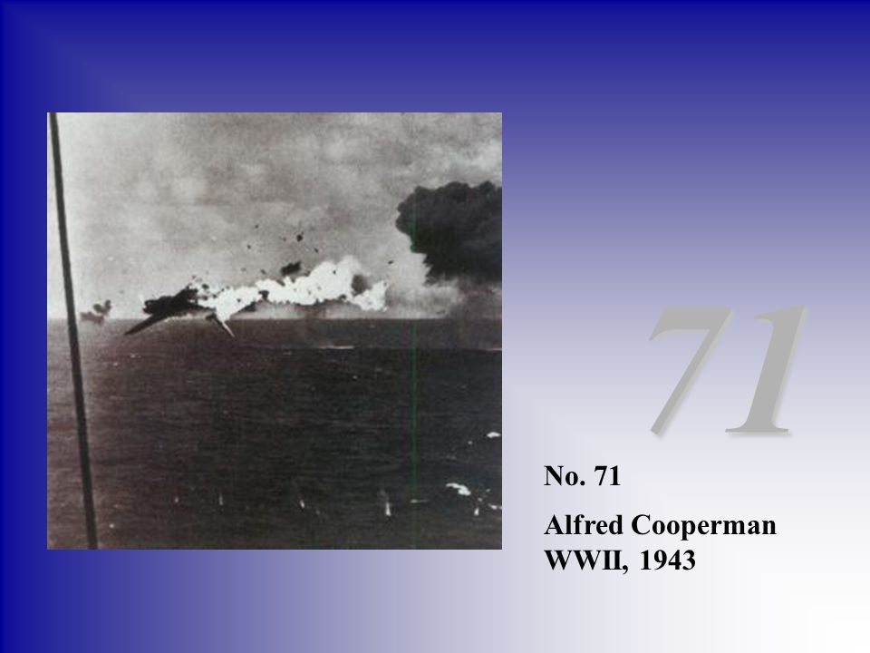 71 No. 71 Alfred Cooperman WWII, 1943