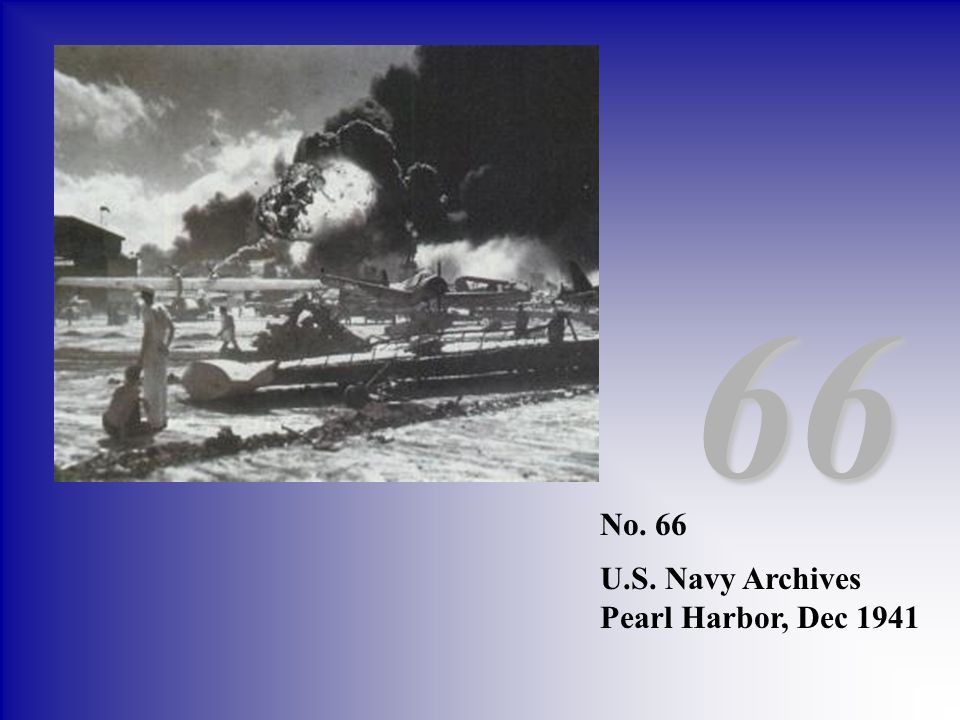 66 No. 66 U.S. Navy Archives Pearl Harbor, Dec 1941