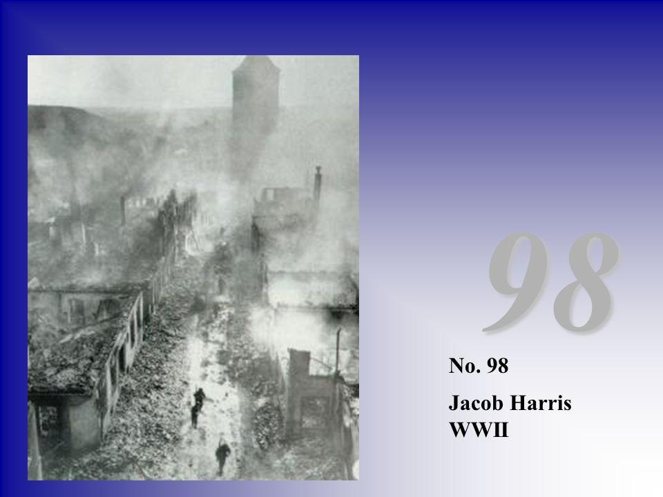 98 No. 98 Jacob Harris WWII