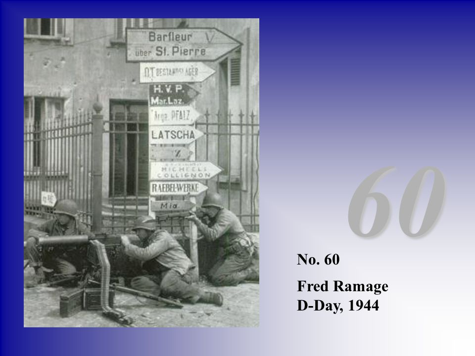 60 No. 60 Fred Ramage D-Day, 1944