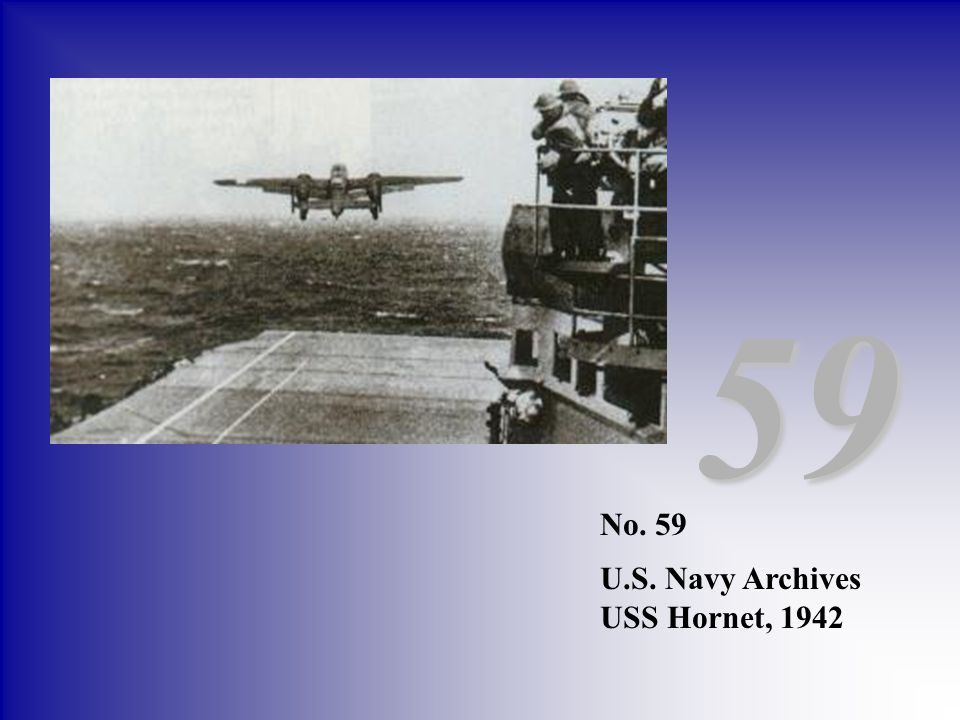 59 No. 59 U.S. Navy Archives USS Hornet, 1942