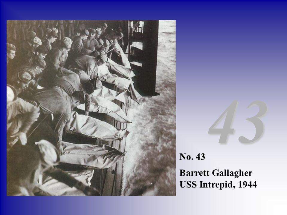 43 No. 43 Barrett Gallagher USS Intrepid, 1944