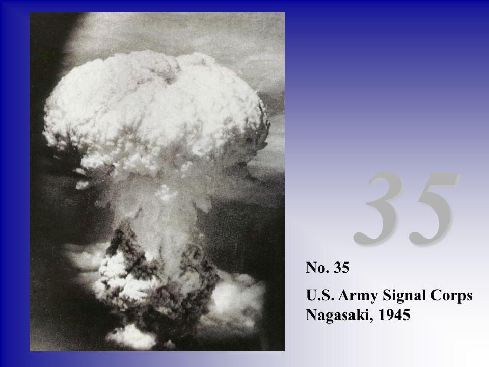 35 No. 35 U.S. Army Signal Corps Nagasaki, 1945