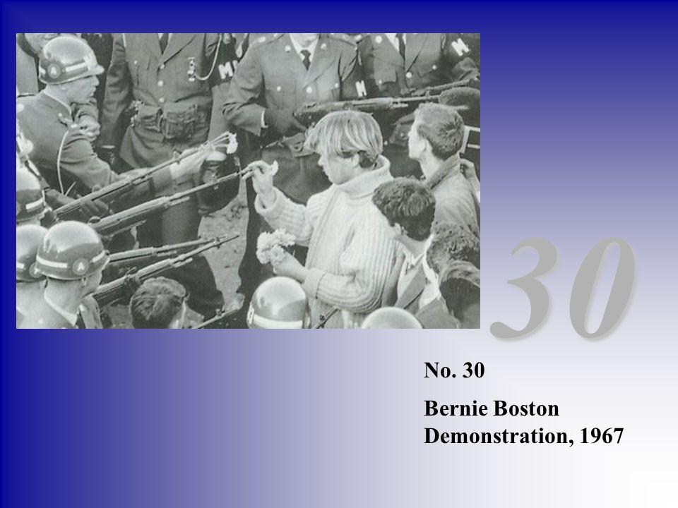 30 No. 30 Bernie Boston Demonstration, 1967