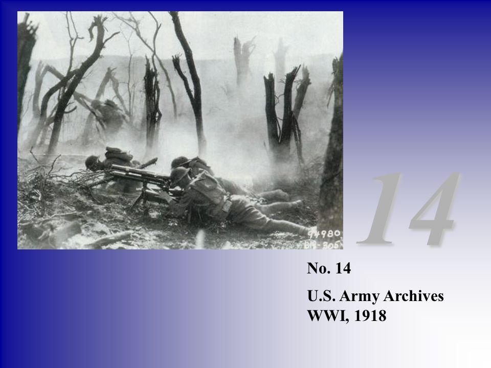 14 No. 14 U.S. Army Archives WWI, 1918