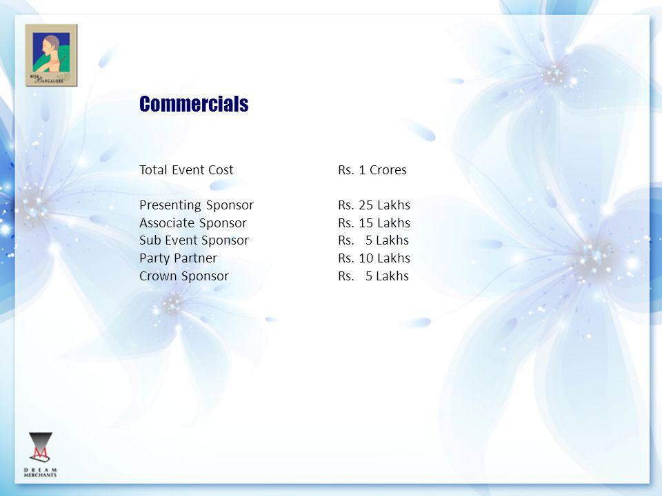 Commercials Total Event Cost Rs. 1 Crores