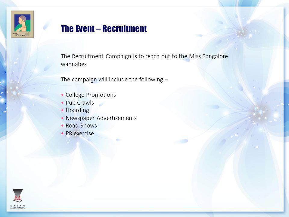 The Event – Recruitment
