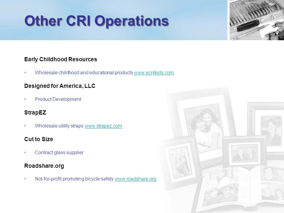 Other CRI Operations Early Childhood Resources