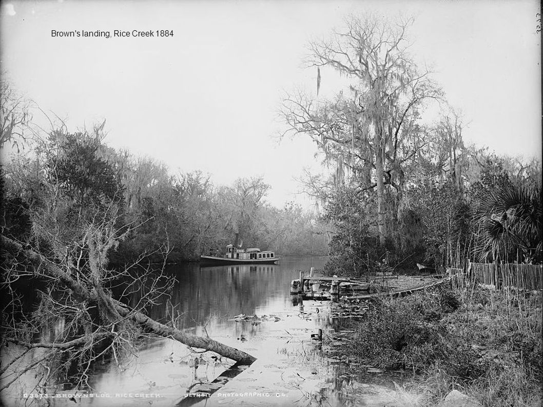 Brown s landing, Rice Creek 1884