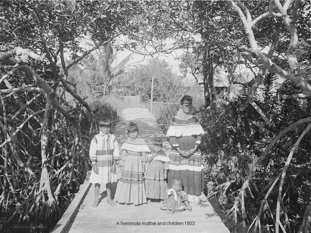 A Seminole mother and children 1903