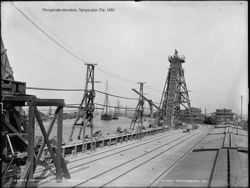 Phosphate elevators, Tampa pier, Fla. 1891