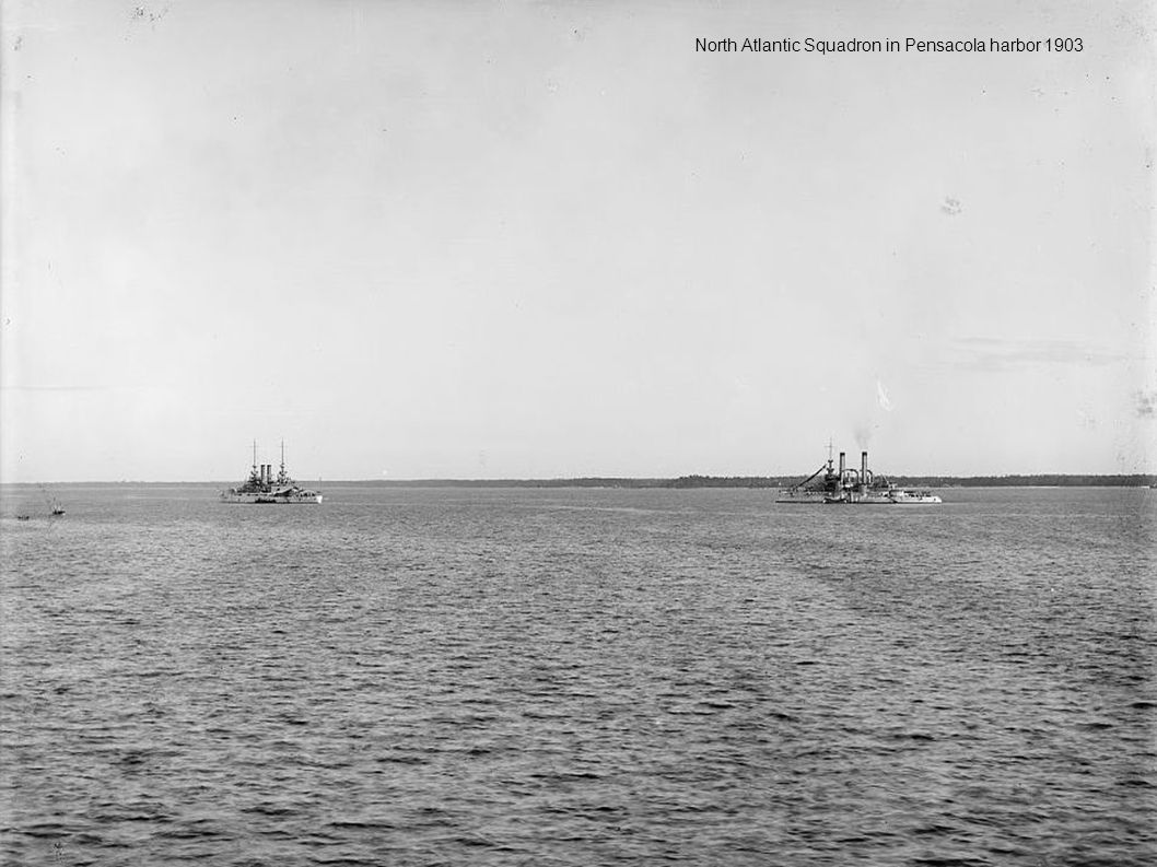 North Atlantic Squadron in Pensacola harbor 1903