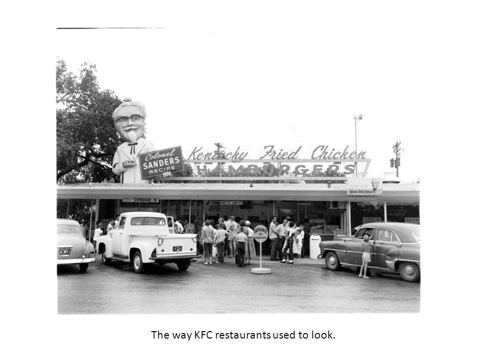 The way KFC restaurants used to look.