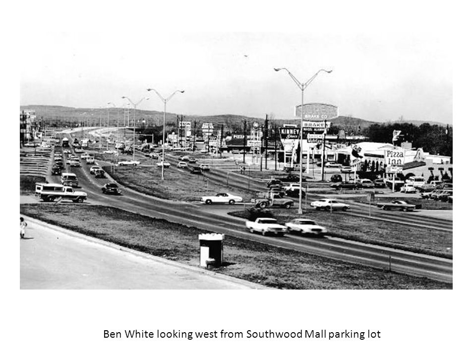 Ben White looking west from Southwood Mall parking lot
