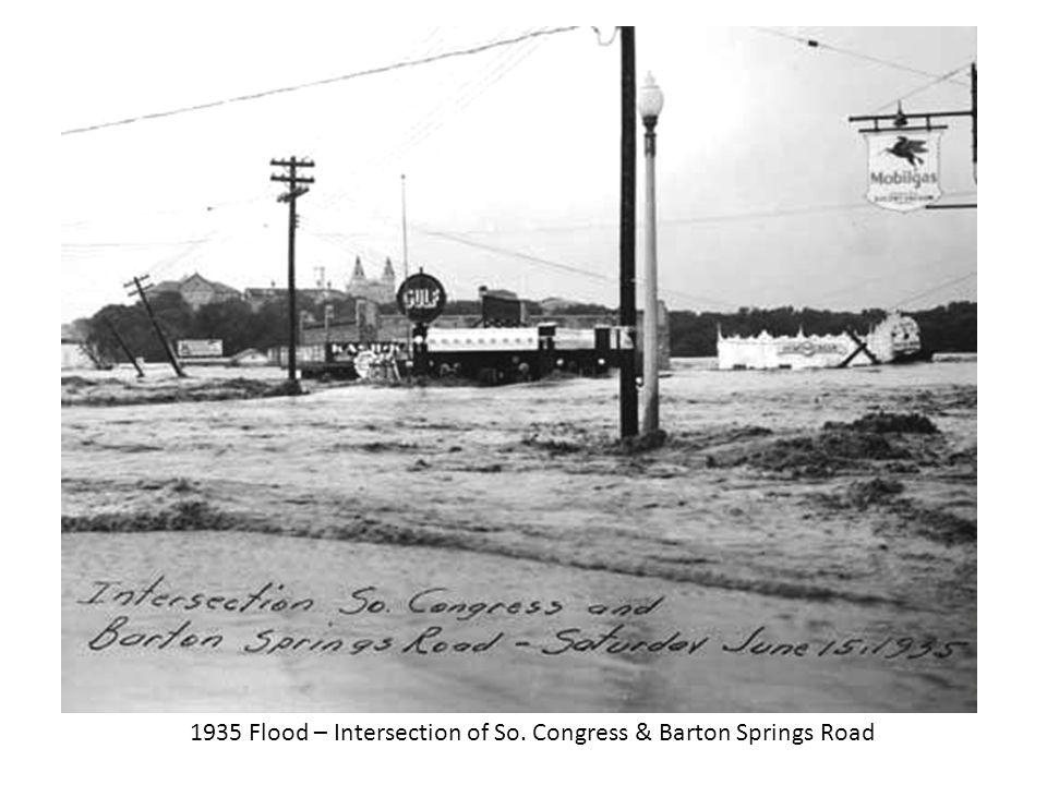 1935 Flood – Intersection of So. Congress & Barton Springs Road