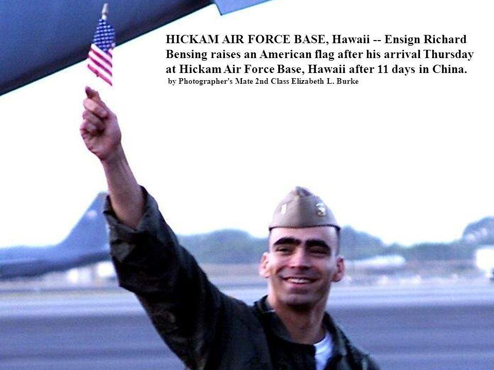 HICKAM AIR FORCE BASE, Hawaii -- Ensign Richard