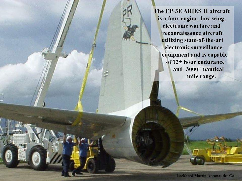 The EP-3E ARIES II aircraft is a four-engine, low-wing,