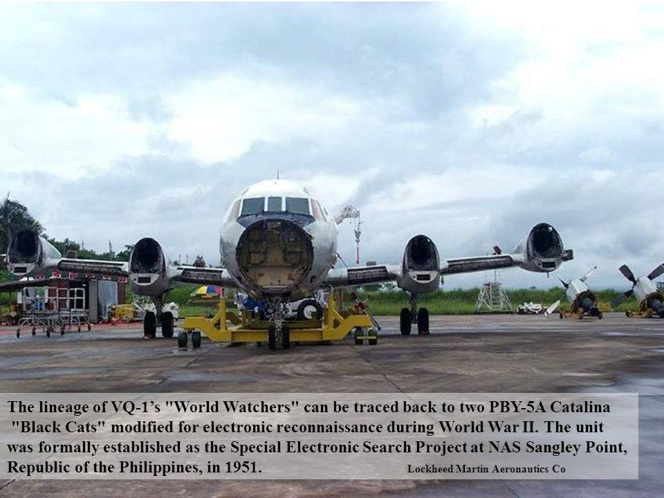 The lineage of VQ-1's World Watchers can be traced back to two PBY-5A Catalina