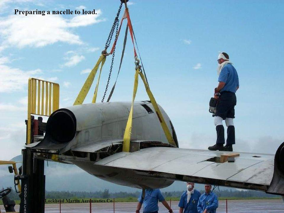 Preparing a nacelle to load.