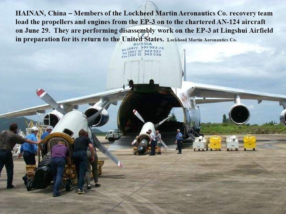 HAINAN, China – Members of the Lockheed Martin Aeronautics Co