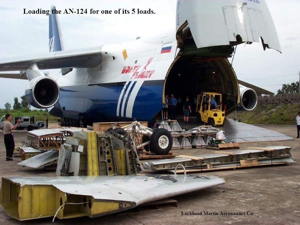 Loading the AN-124 for one of its 5 loads.