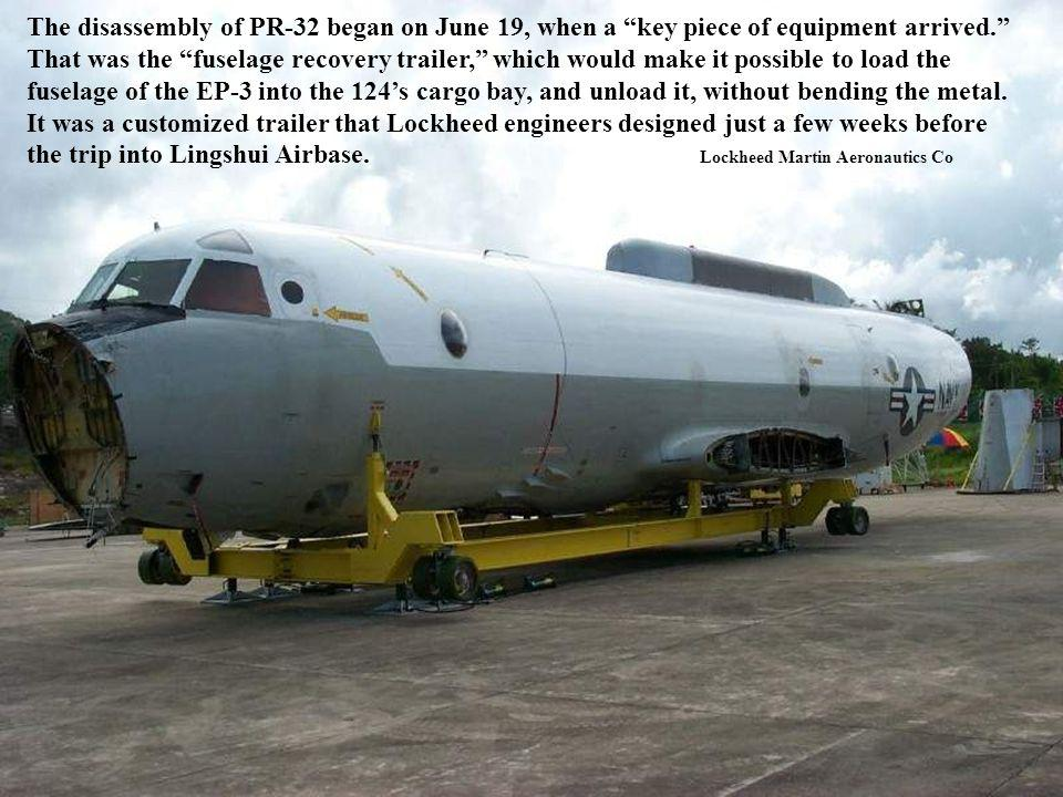 The disassembly of PR-32 began on June 19, when a key piece of equipment arrived.