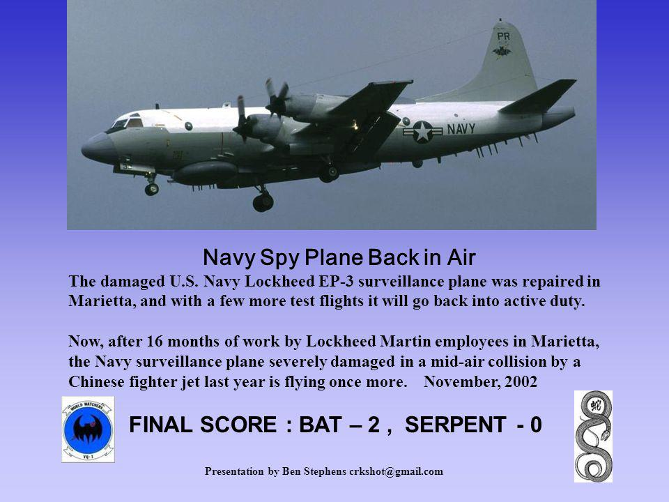 Navy Spy Plane Back in Air