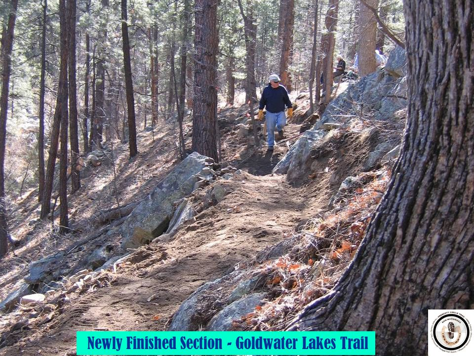 Newly Finished Section - Goldwater Lakes Trail