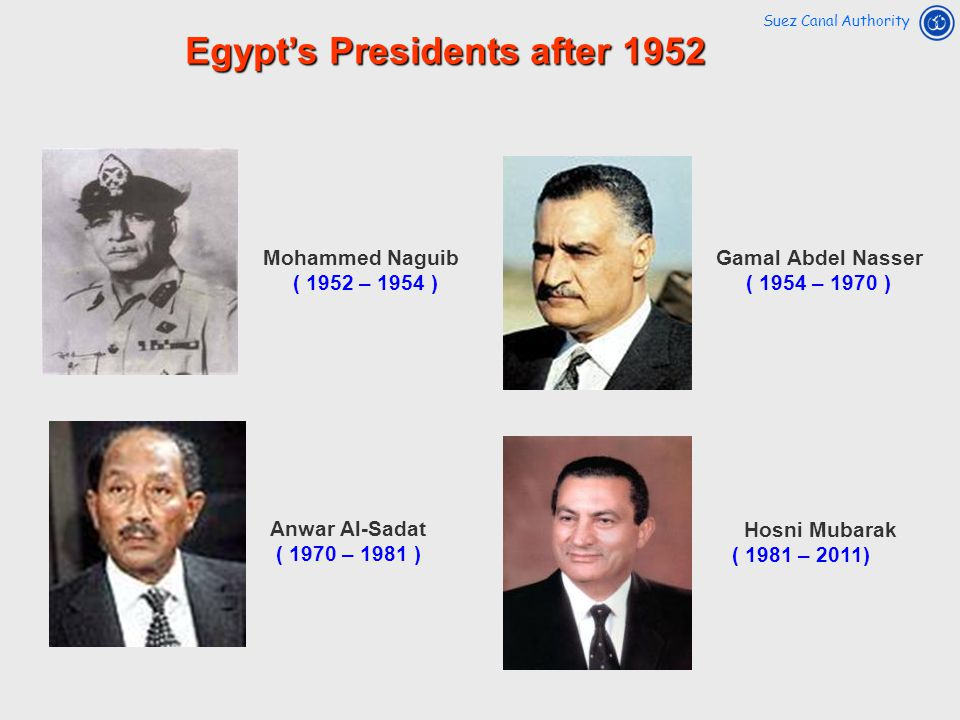 Egypt's Presidents after 1952