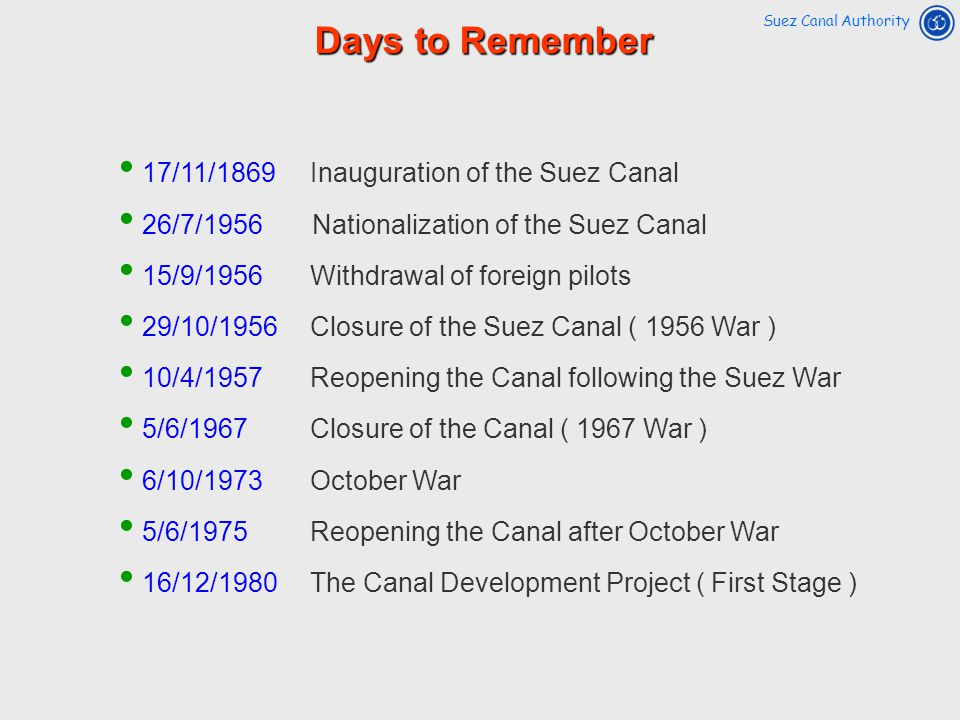 Days to Remember 17/11/1869 Inauguration of the Suez Canal