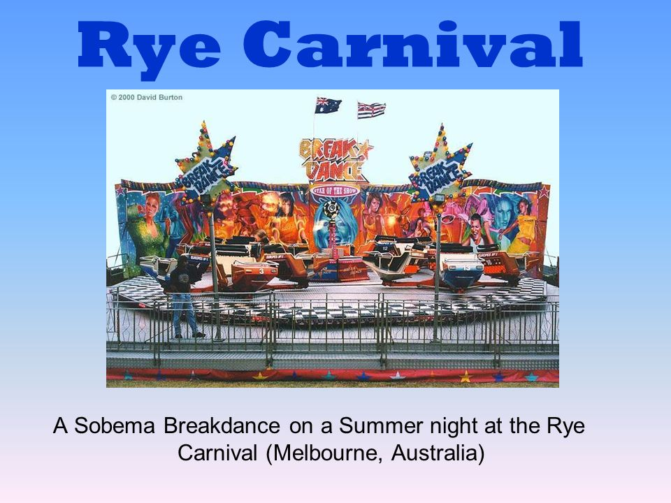 Rye Carnival A Sobema Breakdance on a Summer night at the Rye Carnival (Melbourne, Australia)