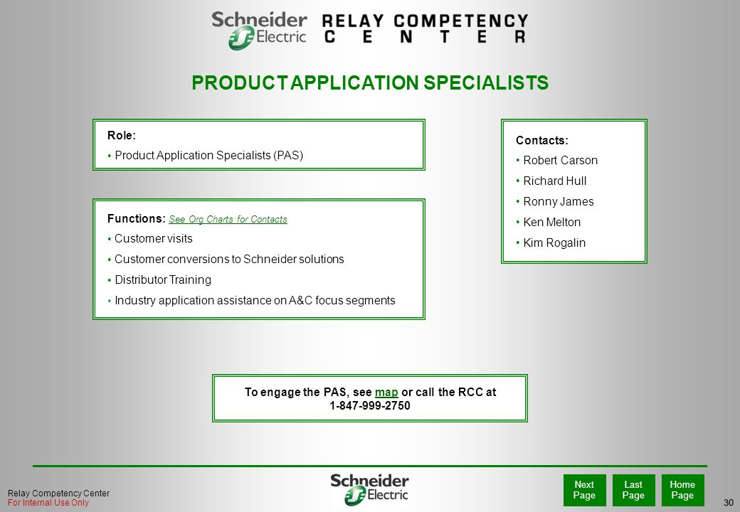 PRODUCT APPLICATION SPECIALISTS