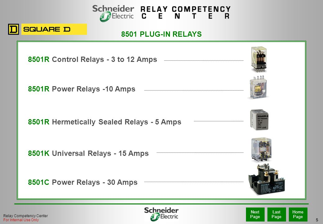 8501R Control Relays - 3 to 12 Amps