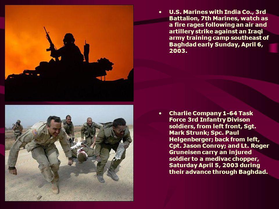U. S. Marines with India Co