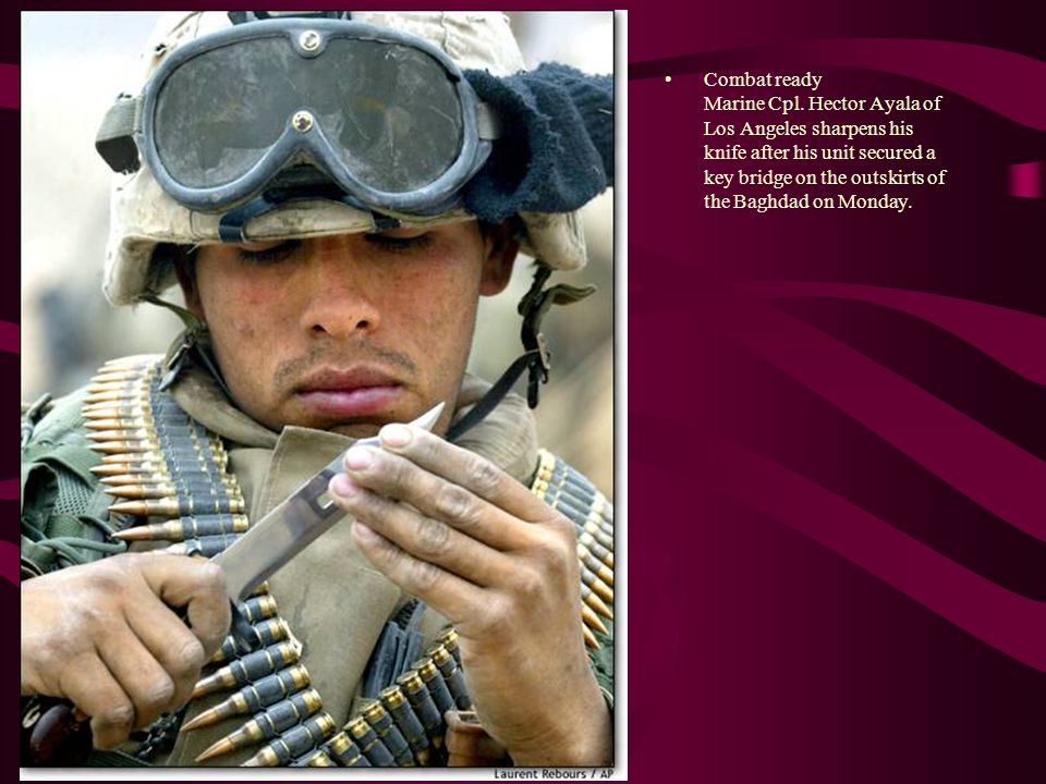 Combat ready Marine Cpl