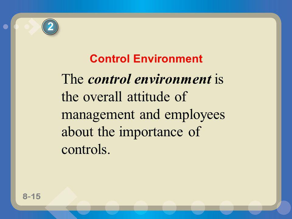 2 Control Environment.