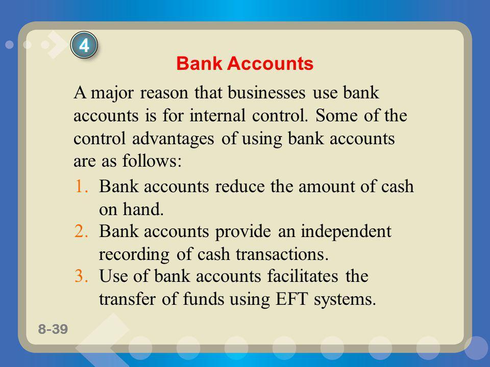 4 Bank Accounts.