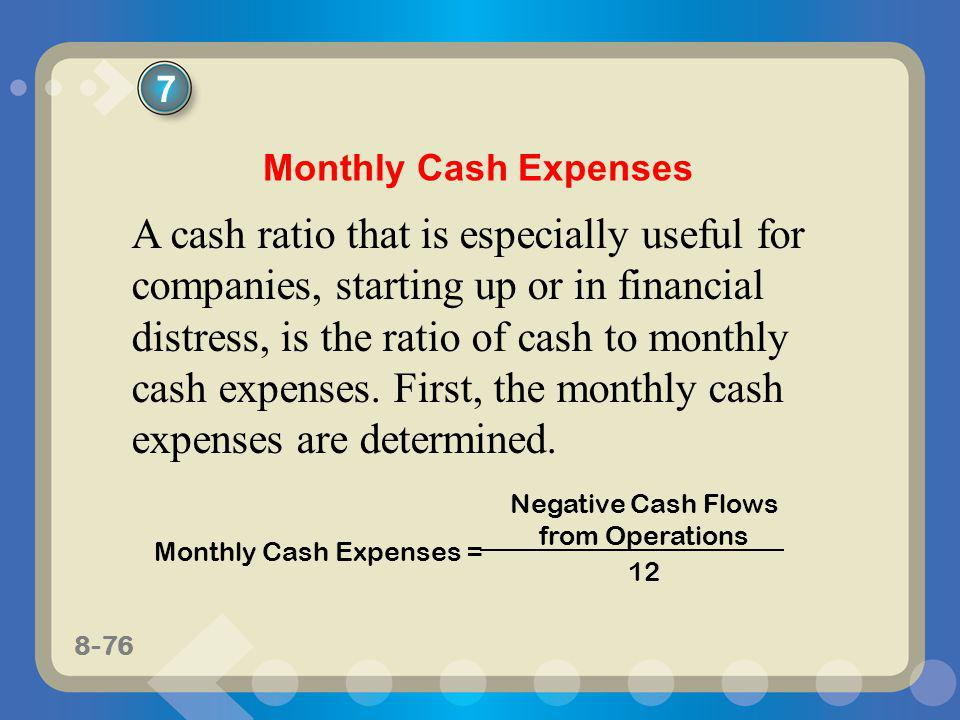 Negative Cash Flows from Operations