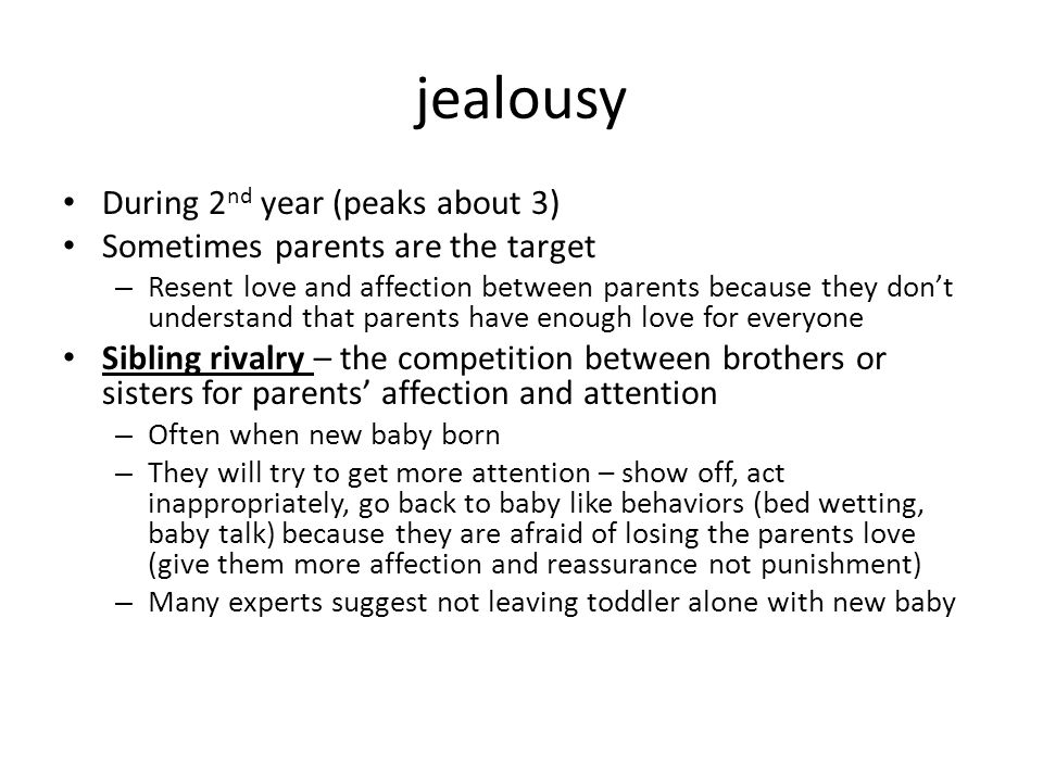 jealousy During 2nd year (peaks about 3)